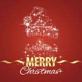 Christmas Santa Claus symbol stardust red background. Vector Royalty Free Stock Photo