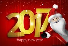 Christmas Santa Claus Thumbs Up 3D Render Cartoon Stock Photos