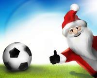 Christmas Santa Claus Thumbs Up 3D Render Cartoon Royalty Free Stock Image