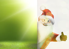 Christmas santa claus thumbs up festive 3d render graphic image Royalty Free Stock Image