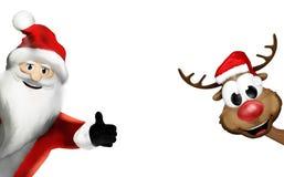Christmas santa claus thumbs up festive 3d render Royalty Free Stock Photos