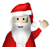 Christmas Santa Claus Thumbs Up Stock Images