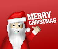Christmas Santa Claus Thumbs Up. Figure artoon Royalty Free Stock Images