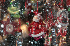 Christmas santa claus toy Royalty Free Stock Photography