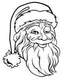 Christmas Santa Claus Vintage Style royalty free illustration