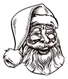 Christmas Santa Claus Vintage Woodcut Style stock illustration