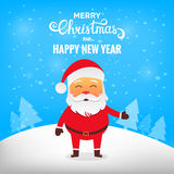 Christmas Santa Claus. Santa Claus in winter snow scene. Merry Christmas Stock Photography