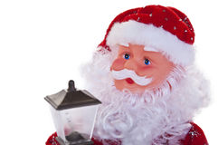 Christmas Santa Clause with Lantern Stock Image
