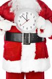 Christmas  Santa with a clock Royalty Free Stock Photos