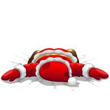 Christmas Santa is Dead Royalty Free Stock Photography
