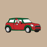 Christmas Santa driving Stock Photography
