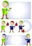 Christmas Santa Elf Clip Art 2 Stock Images