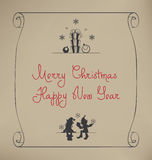 Christmas Santa Elf Design Royalty Free Stock Photography