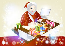 Christmas Santa with gifts Stock Photo