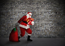 Christmas Santa with gifts. Royalty Free Stock Photo