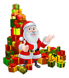 Christmas Santa and Gifts Stock Photos