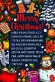 Christmas Santa gifts tree vector sketch greeting Stock Photo