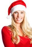 Christmas santa girl Stock Images
