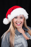 Christmas Santa Girl Royalty Free Stock Images