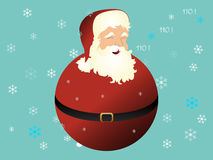 Christmas Santa Globe Stock Photo
