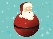 Christmas Santa Globe Stock Photo