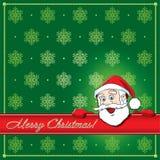 Christmas Santa Greeting card Royalty Free Stock Photography
