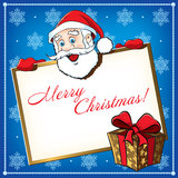 Christmas Santa Greeting card Royalty Free Stock Photos
