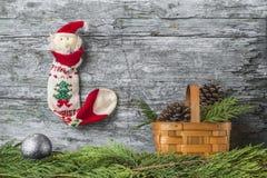 Christmas Santa greeting postcard Stock Image