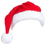 Christmas santa hat. Isolated on white background. designed to easily put on persons head Royalty Free Stock Photography