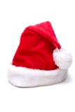 Christmas Santa hat. On white Stock Image
