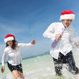 Christmas Santa Hat Business Travel Vacations Concept royalty free stock photography