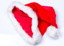 Christmas santa hat Royalty Free Stock Photos