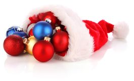 CHRISTMAS SANTA HAT full of presents Stock Photo