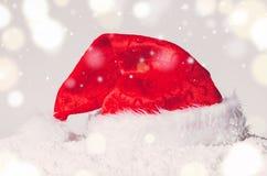 Christmas santa hat stock photography