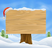 Christmas Santa hat sign background Royalty Free Stock Images