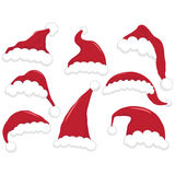 Christmas Santa Hat. A Vector Illustration of Christmas Santa Hat Royalty Free Stock Images