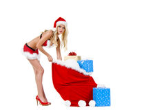 Christmas Santa Helper Royalty Free Stock Photo