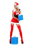 Christmas Santa Helper Royalty Free Stock Images