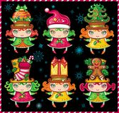 Christmas Santa Helpers 1 Stock Images