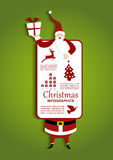 Christmas and Santa Infographic illustration royalty free illustration