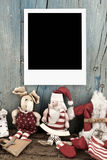 Christmas Santa with one photo frame Royalty Free Stock Photography