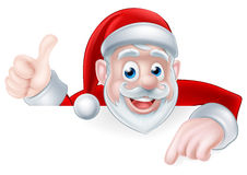 Christmas Santa Pointing Stock Images