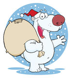 Christmas santa polar bear Royalty Free Stock Photography