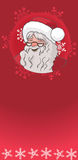 Christmas Santa on a red background Stock Photo