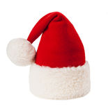 Christmas santa red hat isolated on white Stock Photo