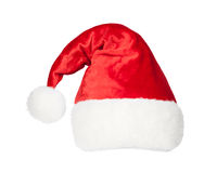 Christmas Santa red hat isolated on white Stock Image