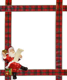 Christmas Santa ribbons border frame Stock Image