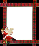 Christmas Santa ribbons border frame Royalty Free Stock Images