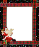 Christmas Santa Ribbons Border Frame