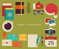 Christmas Santa's desktop flat  design Stock Photography